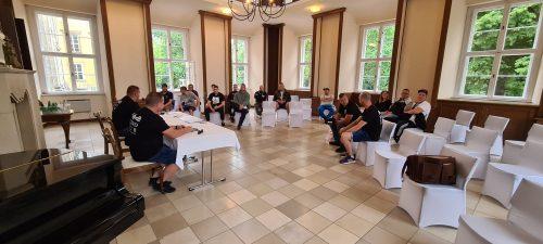 Mitgliederversammlung zur Auflösung des Jugendvereins Ostrau e.V. am 2. Juli 2021